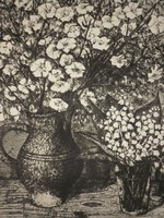 Imre István (1918-1983) : Fehér virágok