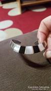 925-s ezüst karperec gyöngyház-onix 18.5 gr