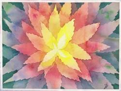 Levélvirág - akvarell