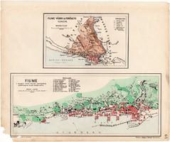 Fiume, Fiume város és területe térkép 1905, eredeti