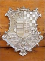 Barokk Magyar címer , látványos jól kidolgozott nagy méret