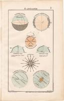 A látóhatár, színes nyomat, térkép 1906, magyar atlasz