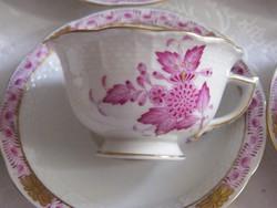 Herendi Apponyi mintás kávés csésze+tányér!