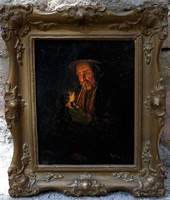 """Horváth G. Andor ( 1876-1966 ) """" Pipázó juhász """""""