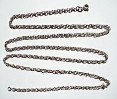 80 cm. hosszú ezüst nyaklánc, 925-ös fémjeles