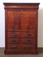 0N171 Antik biedermeier írószekreter 144 cm