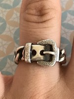 Csodálatos ezüst 925-ös gyűrű Hermés stílusu 18mm