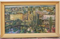 Molnár József 1922-) Gellérthegy .olajfestménye képcsarnokos