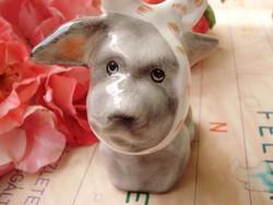Nagyon ritka,antik Illés László kerámia fogfájós kutyus