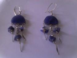 Indiai lapis lazuli fülbevaló