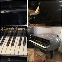 Edmund Lunder antik bécsi zongora