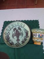 Gorka kerámia rákos tányér
