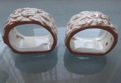 2 db porcelán szalvétagyűrű