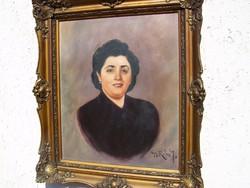 """Gy. Riba János ( 1905 - 1973 ) """"Portré!"""""""