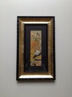 Festmény gólya 1924 (afrika?)