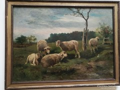 Festmény, Félix Saturnin Brissot de Warville (1818-1892).