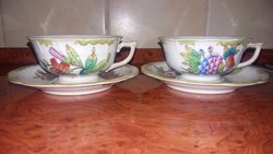Herendi 2 db Viktoria mintás antik teás csésze
