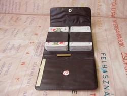 Retro dupla franciakártya,póker pakli,tokjában,jegyzettel