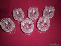 6db ólomkristály konyakos kehely