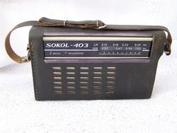 """Retro """"Sokol 403"""" táskarádió! Hibátlanul üzemel!"""