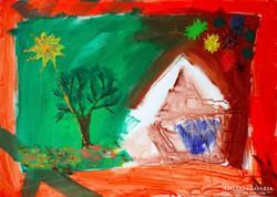 Fejes MIkolt: Ez az a ház... (eredeti festmény)
