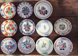 Népi festett tányér csomag! 11 db ! Apátfalvi , Bélapátfalvi