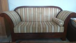 Csdás Toscana tömör fa vázas rugós kanapé fiókos nem ágy