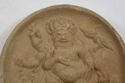 18. századi kínai terrakotta dombormű szobor