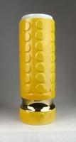 0N251 Nagy méretű sárga porcelán váza 28 cm