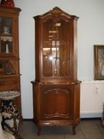 Warrings sarok vitrines szekrény 190x78x48cm
