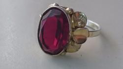 Ezüst gyűrű aranyozott régi 835 ös