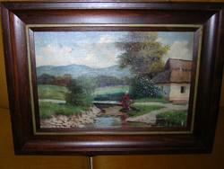 BARSI BÉLA eredeti festménye (olaj-vászon)