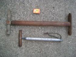 Régi pumpa - két darab