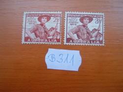AUSZTRÁLIA 2,5+3,5 P 1948,1952 Pan-Pacific Cserkész B311