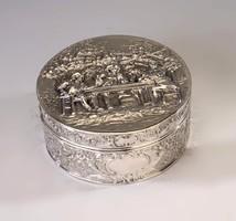 Rosenau ezüst barokk stílusú doboz