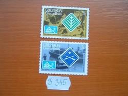 GRENADA GRENADINES 1/2+1 C 1975 A 14. Cserkész Világtalálkozó, Norvégia  B345