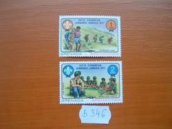 GRENADA GRENADINES 1+2 C 1977 Caribbean Cserkész, Jamaica B346
