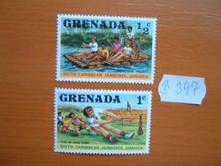 GRENADA 1/2+1 C 1977 Caribbean Cserkész, Jamaica B347