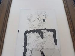 Szász Endre: Arcok, tus, rajz