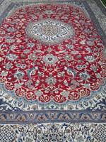 Nain kézi csomózású perzsa szőnyeg