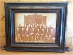 Antik csoportkép , delegáció , társaság fotó