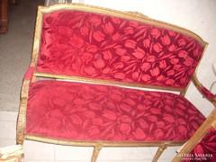 Aranyozott barokk szalon garnitúra