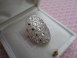 Ezüst gyűrű áttört dekoratív mintával - új  belső átmérő 17,6 mm