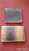 Táska, tárca, Valódi kígyóbőr pénztárca 2 db