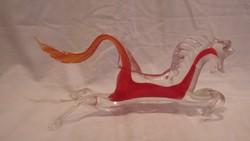 Színes üveg ló szobor