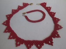 Sárközi csipke nyakék -nyaklánc + karkötő