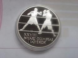 2004 Athén olimpia(BOX) ezüst 5000 PP 31,46 gramm 0,925