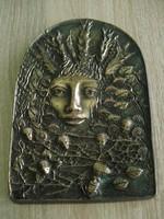 Rácz Edit szignált bronz dombormű