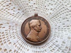 Vitézségi Érem (bronz) AZ 1800-AS ÉVEKBŐL  E: CAROLVS D.G.IMP.AVST.REX BOH.ETC. ET REX APOST.HVNG. (