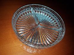 Gyönyörű osztott üveg kínáló tál